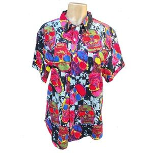 Other - Abstract Skull Mutli color Button Down Shirt